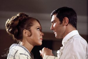 Could James Bond be ready to hand in his licence to kill as he falls for the mysterious Tracy? Stars George Lazenby and Diana Rigg have good chemistry in  'On Her Majesty's Secret' Service' - one of the best entries in the long running Bond film series.