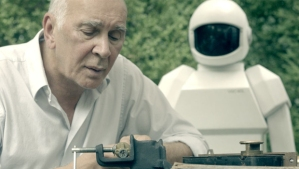 Frank (the superb Frank Langella) strikes an unlikely bond with his robot carer (voiced by Peter Sarsgaard) in 'Robot & Frank'.